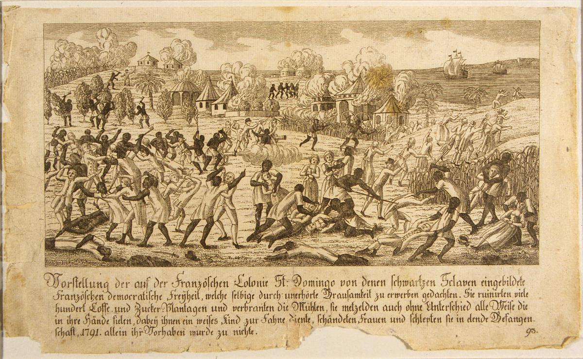 Révolte des esclaves à Saint-Domingue. Détail. Coll. Musée d'Aquitaine