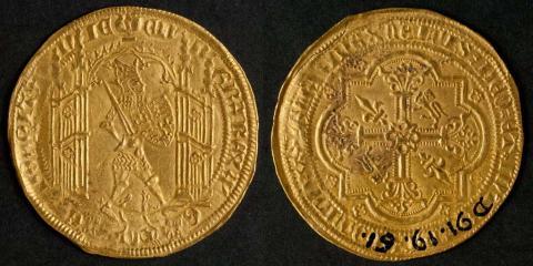 Guyennois d'or d'Édouard III. 2e moitié du XIVe siècle. Or. Photo L. Gauhtier, mairie de Bordeaux