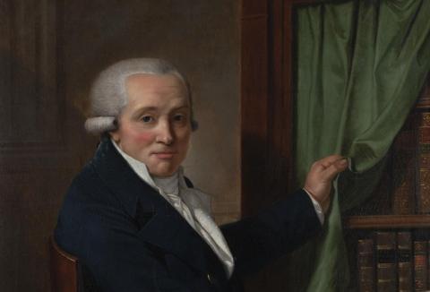 Portrait de Mathias Jacob Stuttenberg (détail), Huile sur toile, XVIIIe siècle, anonyme