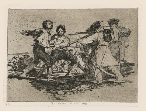 Francisco Goya, Con razon o sin ella, les désastres de la guerre
