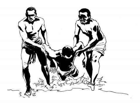 Illustration « Les esclaves oubliés de Tromelin » de Sylvain Savoia