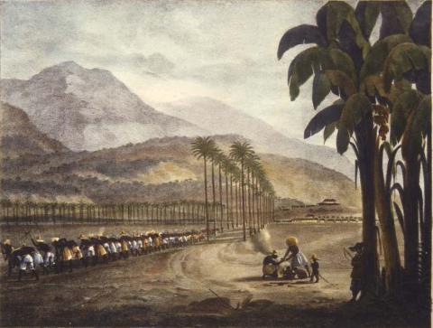 Garneray - Vue d'une habitation près la Havane