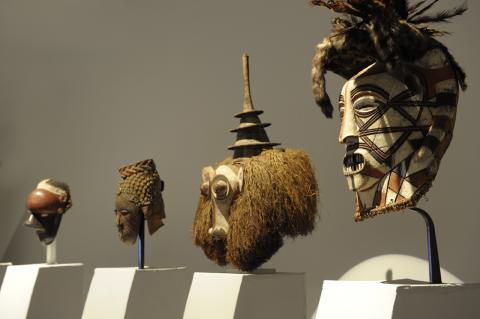 """Vue de l'exposition """"Arts d'afrique"""" au musée d'Aquitaine, photo Lysiane Gauthier"""