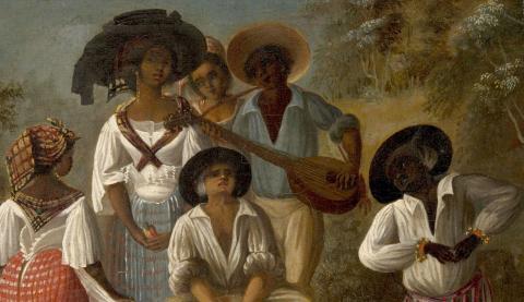 Danse d'esclaves, A. Brunias, legs Chatillon, coll. musée d'Aquitaine