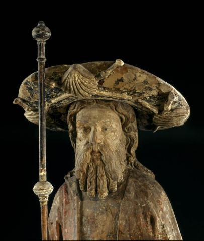 Saint Jacques le majeur (détail) ph. J. Gilson, musée d'aquitaine
