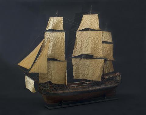 Maquette de vaisseau, photo Lysiane Gauthier, mairie de Bordeaux