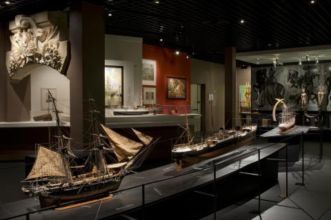 Enfilade bateaux XIXème. Ph Lysiane Gauthier, ville de Bordeaux