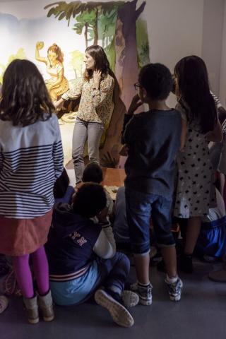 Ateliers famille des vacances d'hiver musée d'aquitaine- mairie de Bordeaux-photo f.vannier
