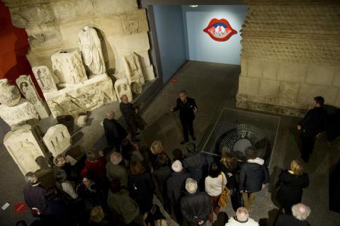 visite au musée d'Aquitaine,©Lysiane Gautier, mairie de Bordeaux