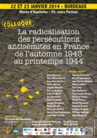 Affiche du colloque 22-23 janvier 2014