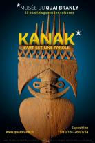 """Affiche de l'exposition """"Kanak, l'art est une parole"""" au musée du quai Branly"""