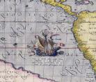 A. Ortelius, Maris Pacifici (détail)